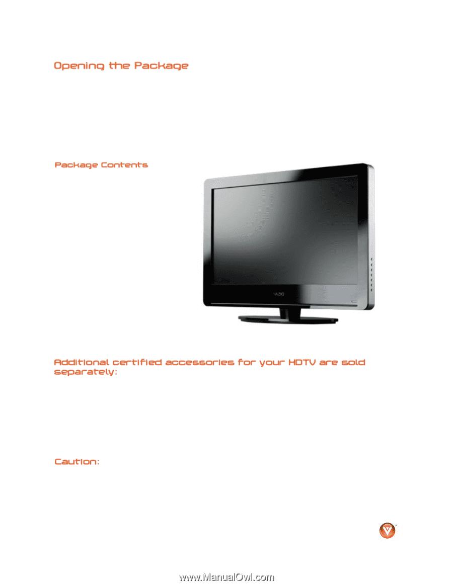 vizio va220e va220e user manual rh manualowl com Vizio TV Problems Vizio TV Dimensions