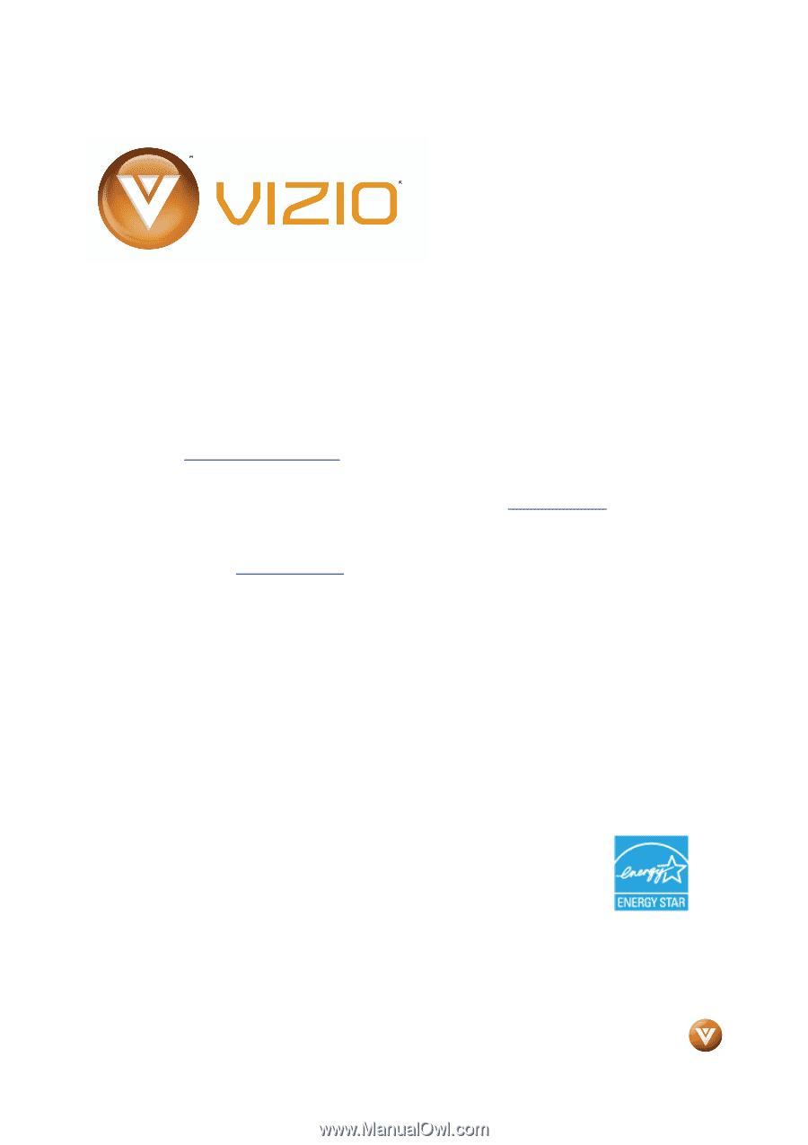 vizio vo22lfhdtv10a vo22lf hdtv user manual rh manualowl com Vizio Remote User Manual Vizio Owners ManualDownload