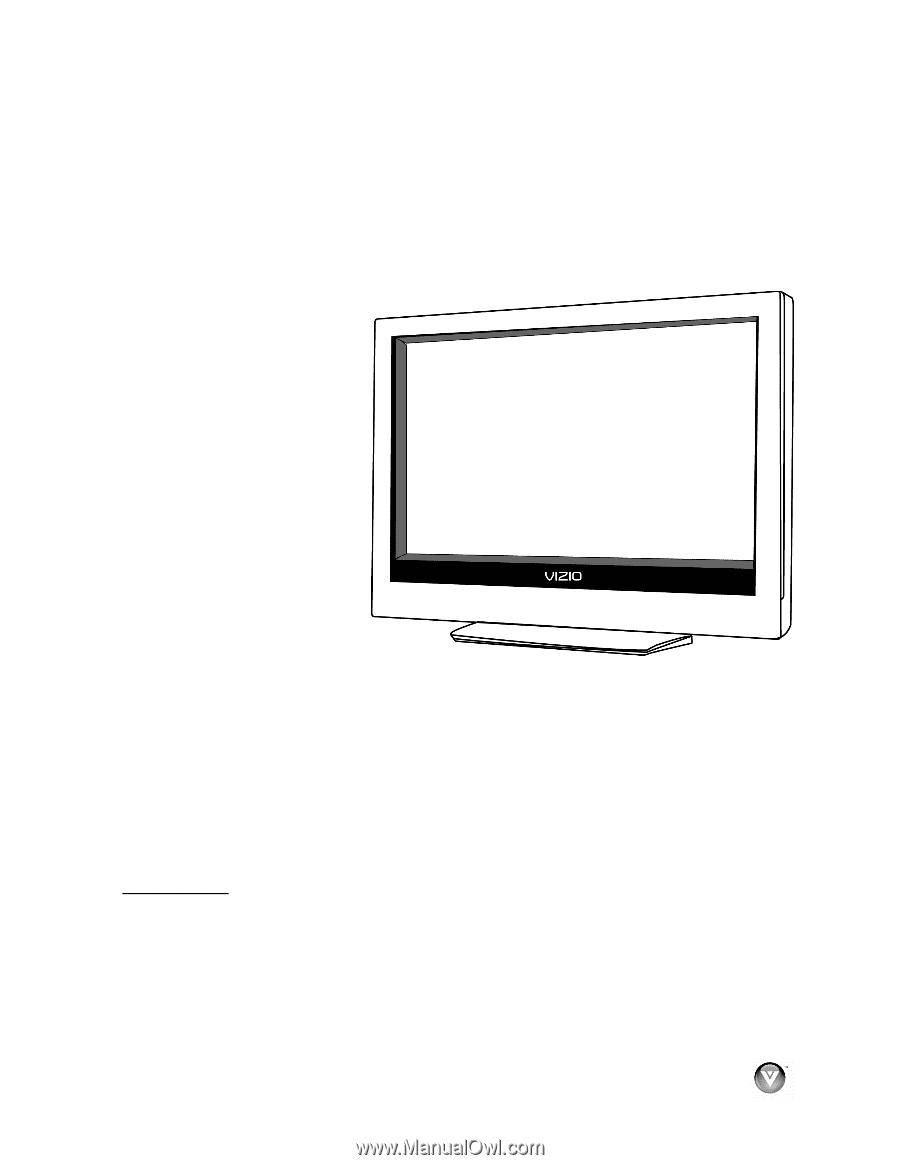 vizio vo320e vo320e hdtv user manual page 10 rh manualowl com Vizio VO320E Specs Vizio TV VO320E Manual