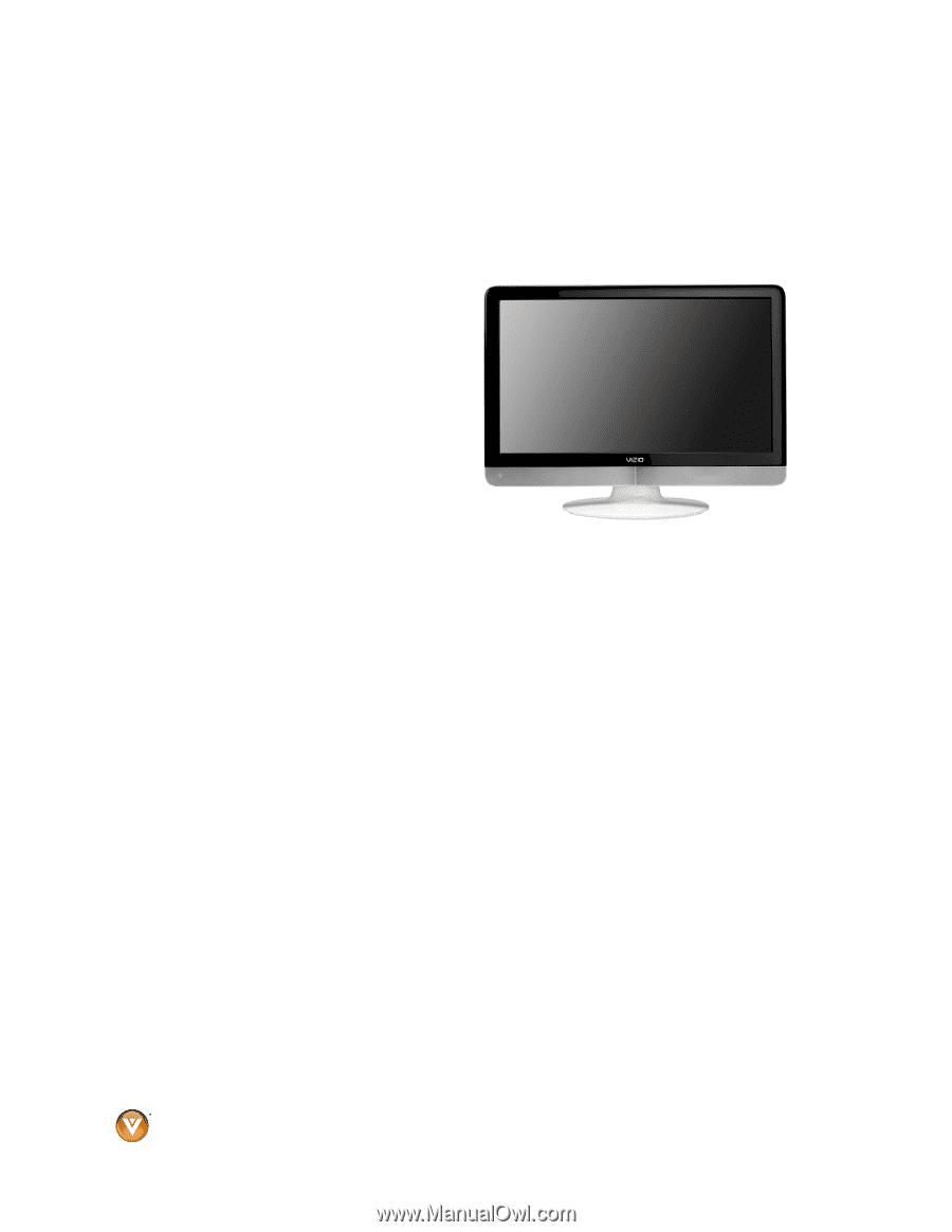 vizio vx240m vx240m hdtv user manual rh manualowl com Wall Mount TV Bracket Remote Control Vizio VO320E