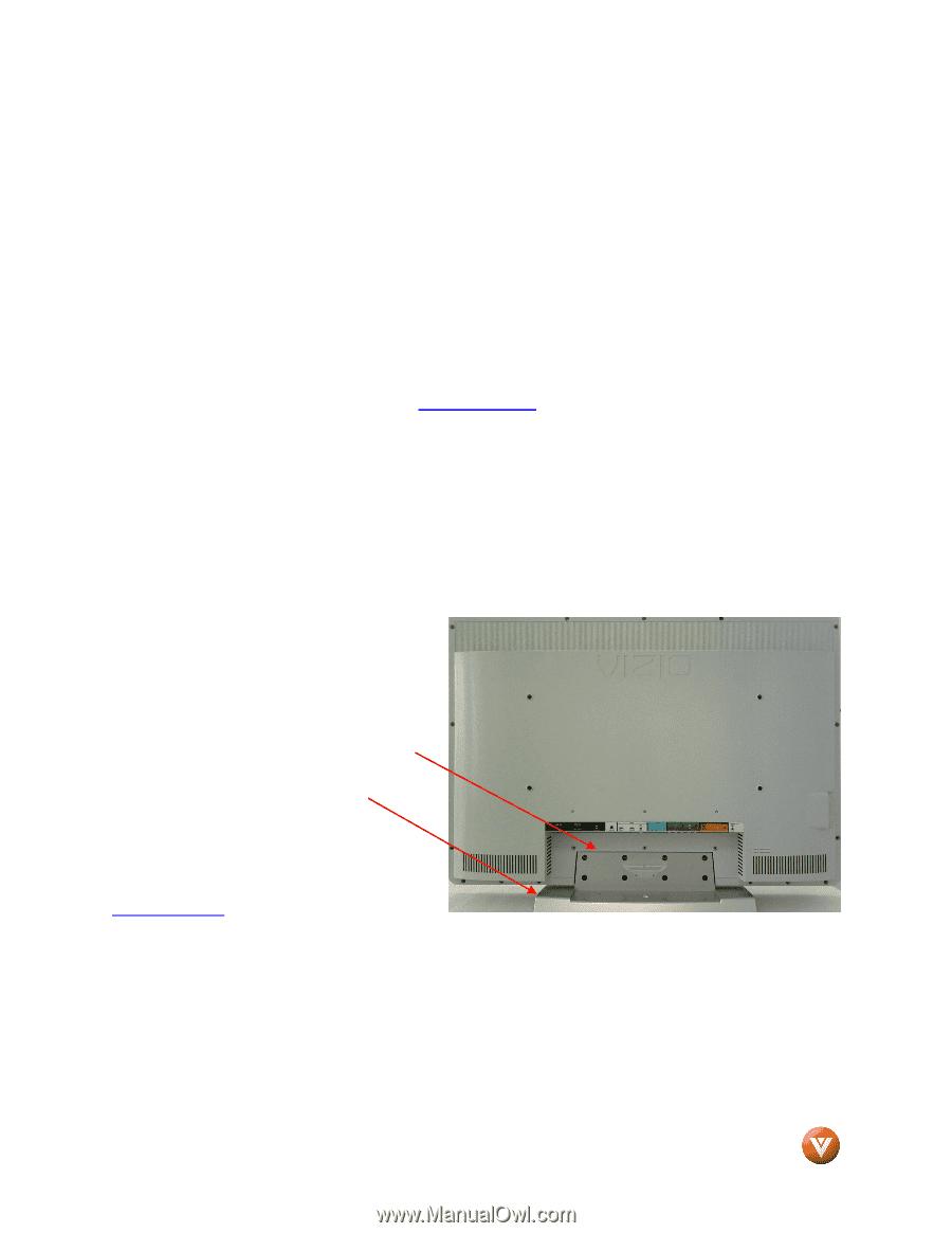 vizio vx37l user manual page 11 rh manualowl com Vizio VX37L Stand Vizio VX37L Stand