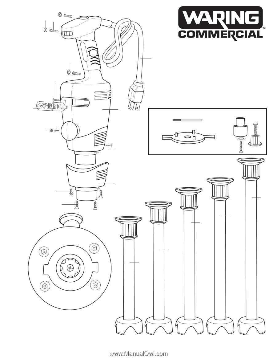 Waring Blender Parts Diagram