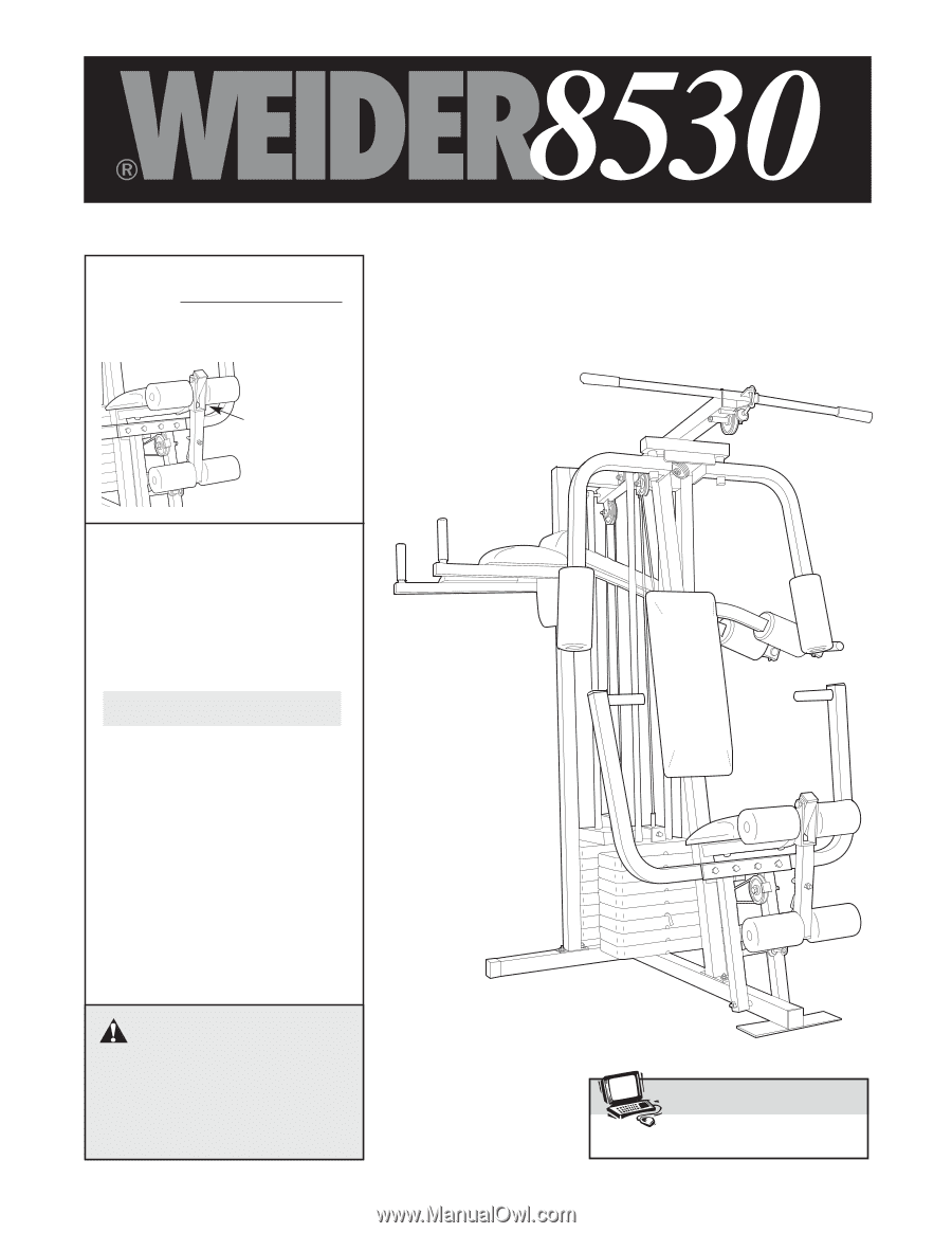 Weider 8530 Home Gym Assembly Instructions