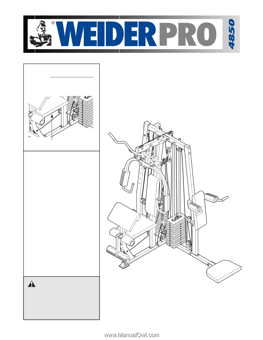 Weider Pro 4850 | Canadian English Manual