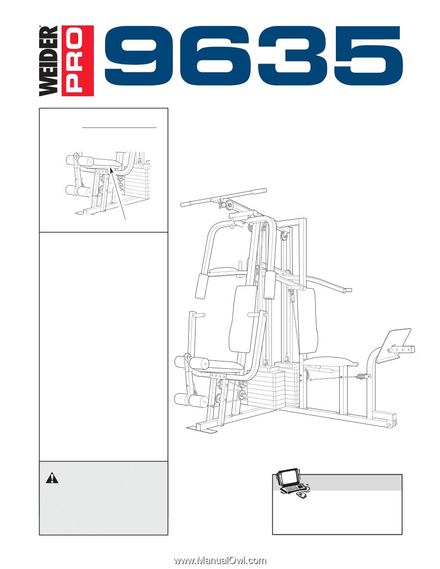 Weider pro 9635 | english manual.