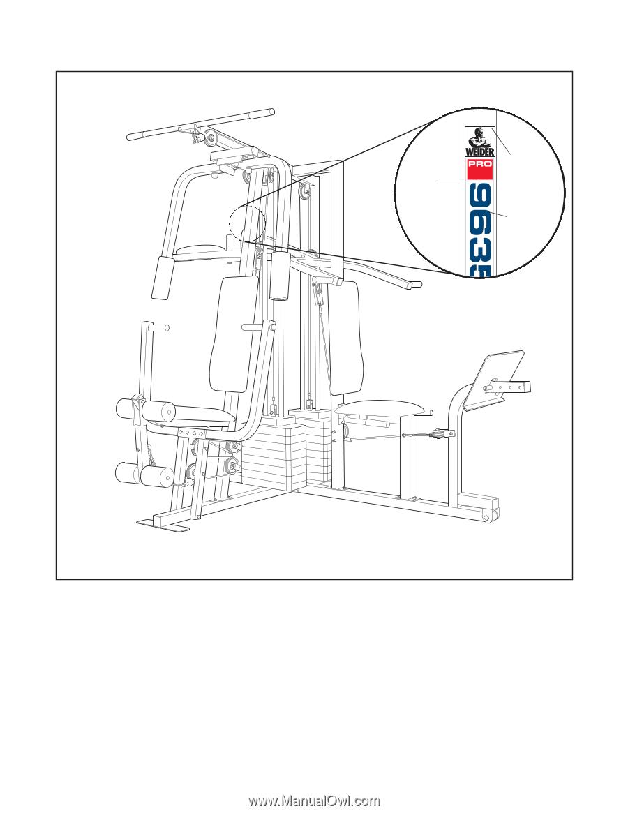 Weider home gym 9635 | nut (hardware) | screw.