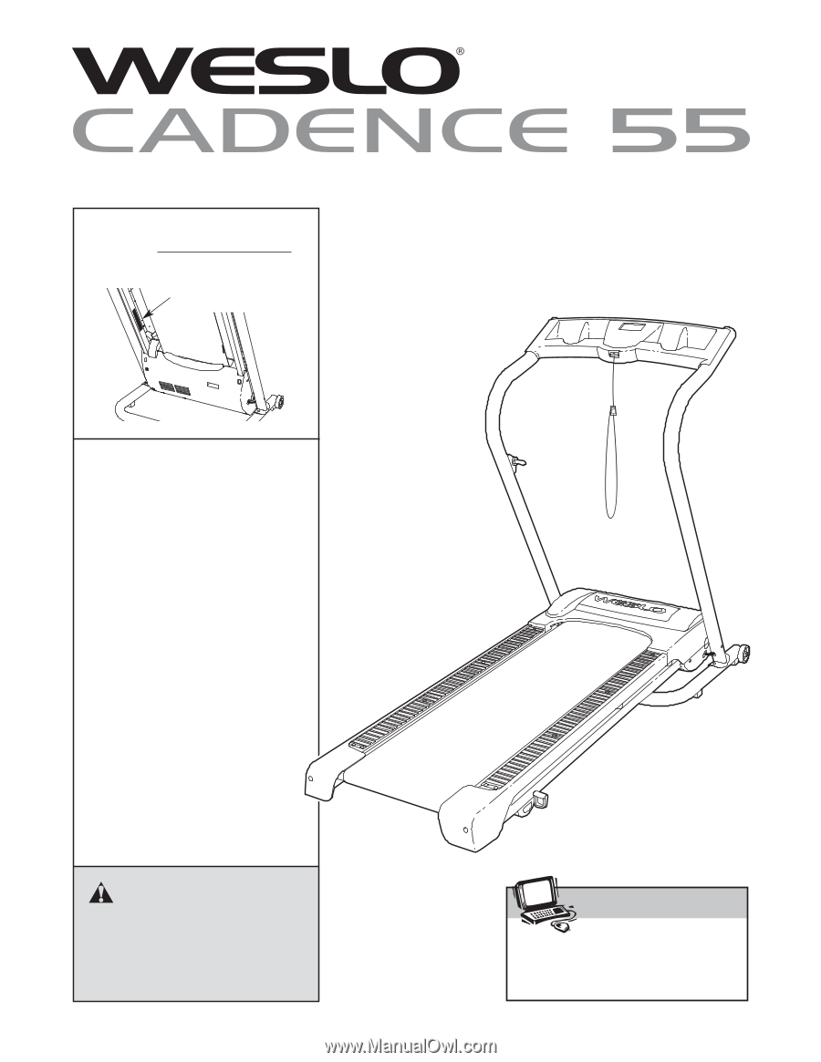 Weslo Cadence 55 Treadmill | English Manual on
