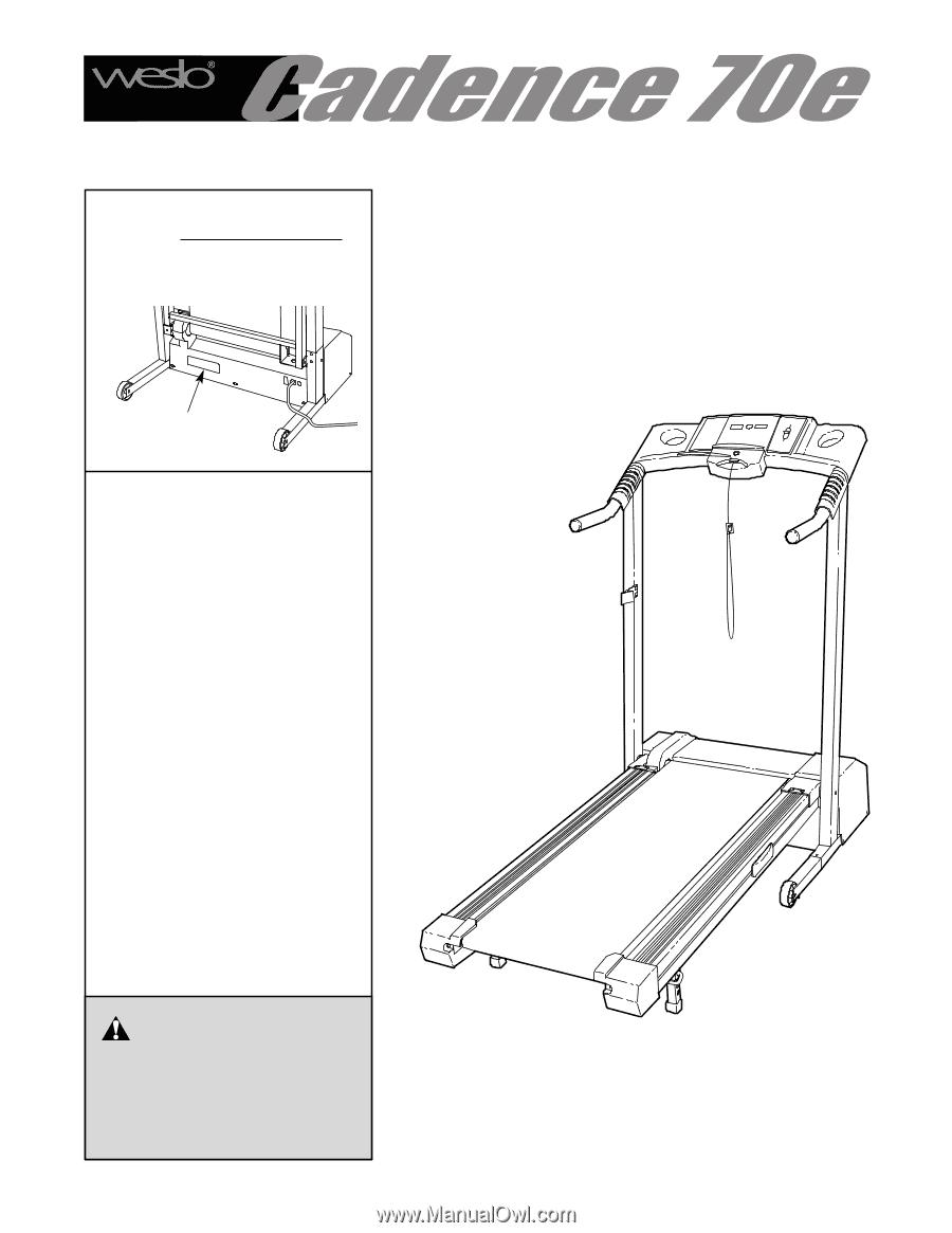 weslo cadence 78e treadmill manual