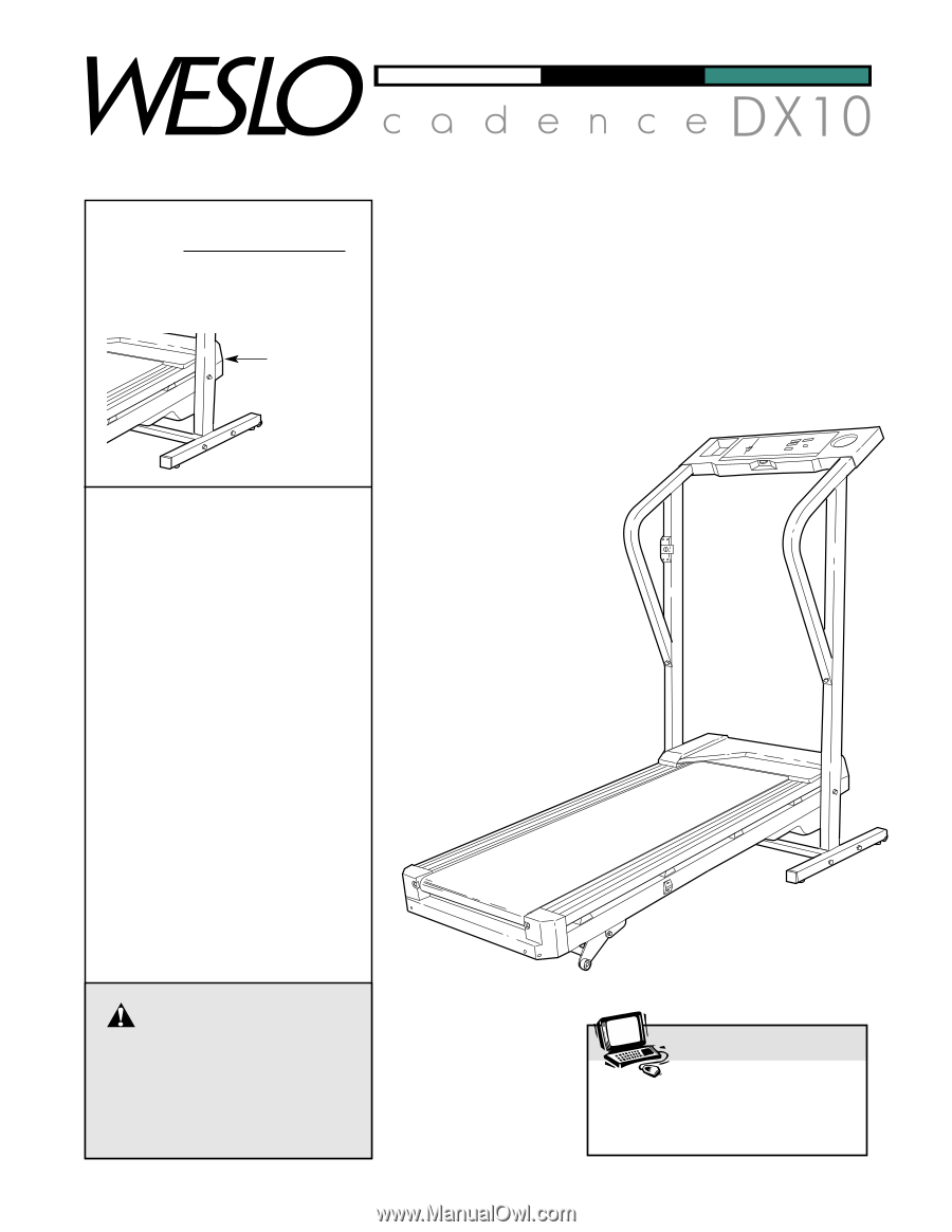 Weslo Cadence Dx10 Treadmill Canadian English Manual Wiring Diagram Users