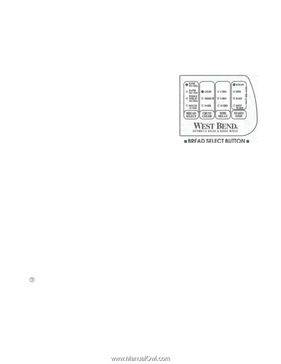 west bend breadmaker parts model 41048 instruction manual recipes pdf