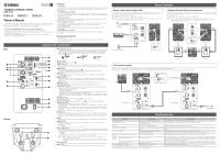 Yamaha DBR12 | Owner's Manual