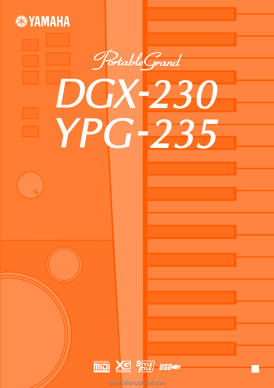 Yamaha YPG-235 | Owner's Manual