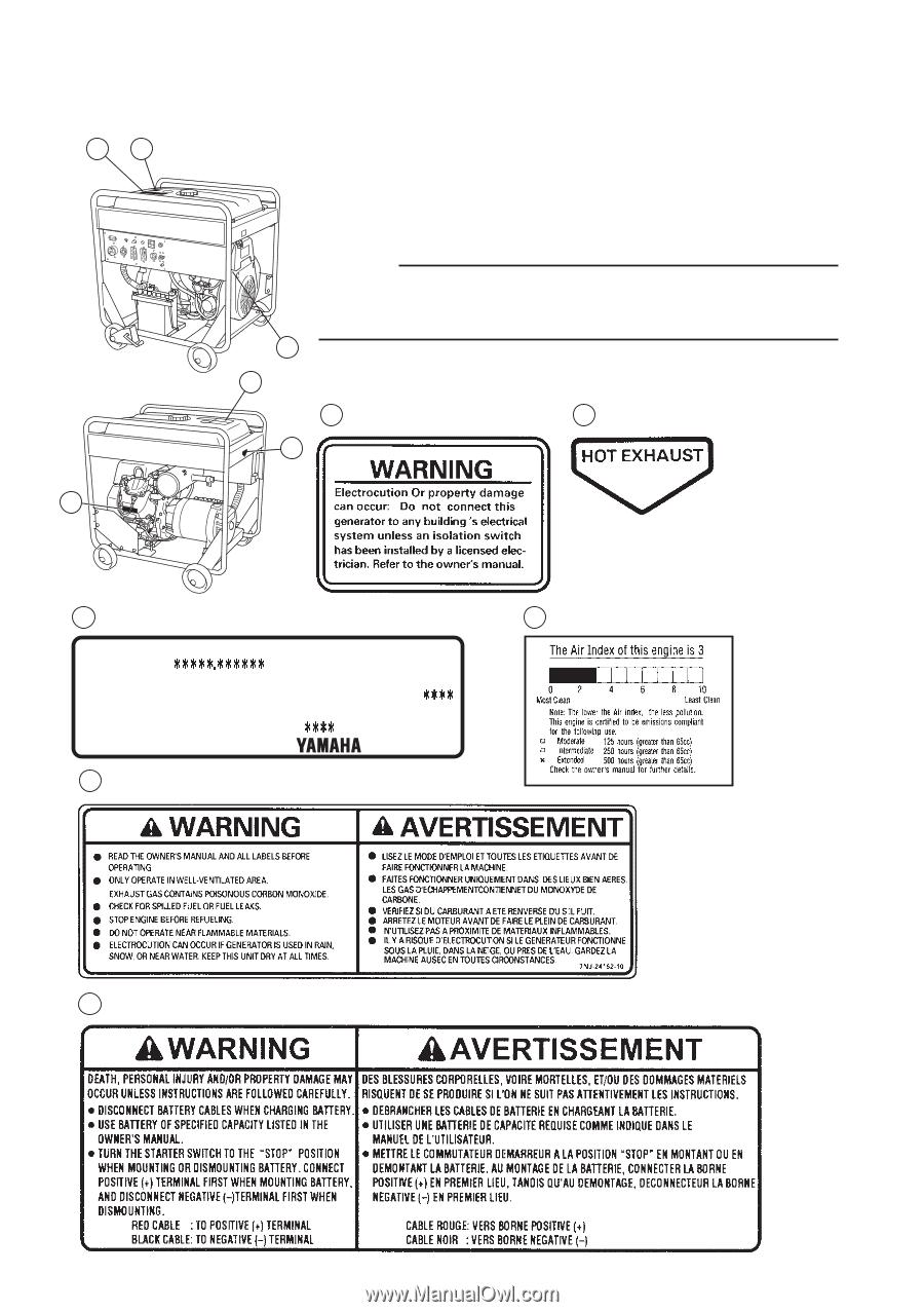 Yamaha EF12000DE | Owners Manual on