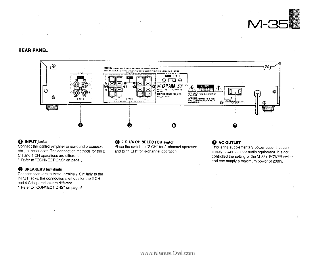 yamaha m 35 owner s manual rh manualowl com Infiniti M35x M35 Gun