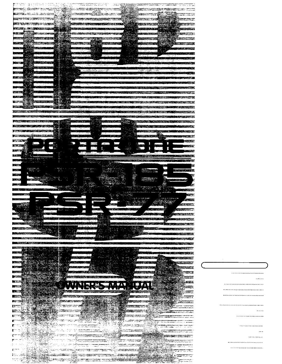 Yamaha Psr E Voice List