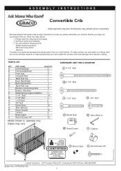 Graco 3251642 062 Lauren Classic Convertible Crib Manual