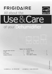 dehumidifier frigidaire 70 pintes ffad7033r1 guide francais pdf