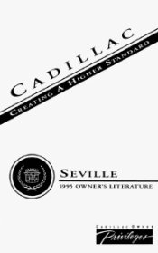 1995 Cadillac Seville Owner's Manual