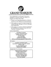 1996 mercury grand marquis manuals rh manualowl com 2013 Mercury Grand Marquis 2007 mercury grand marquis owners manual
