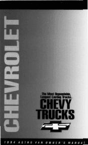 1994 chevrolet astro manuals rh manualowl com 1994 Chevrolet Astro Interior 1994 Chevrolet Astro Cargo Van 4WD