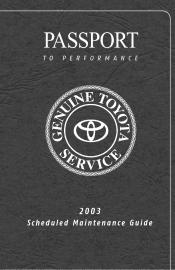 2003 Toyota    Highlander    Manuals